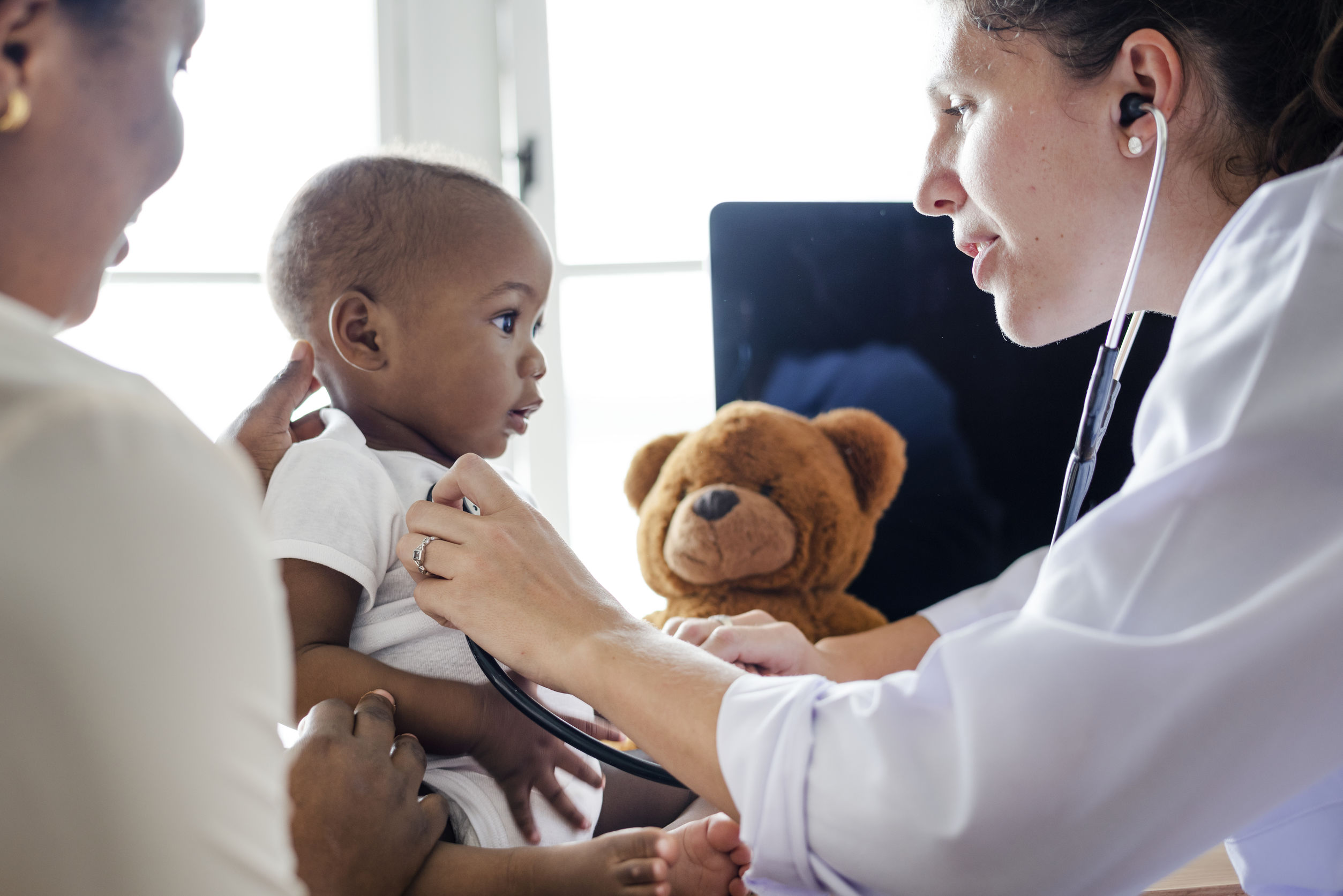 family doctor with child