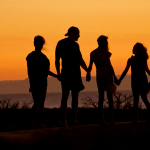 family silhouette image