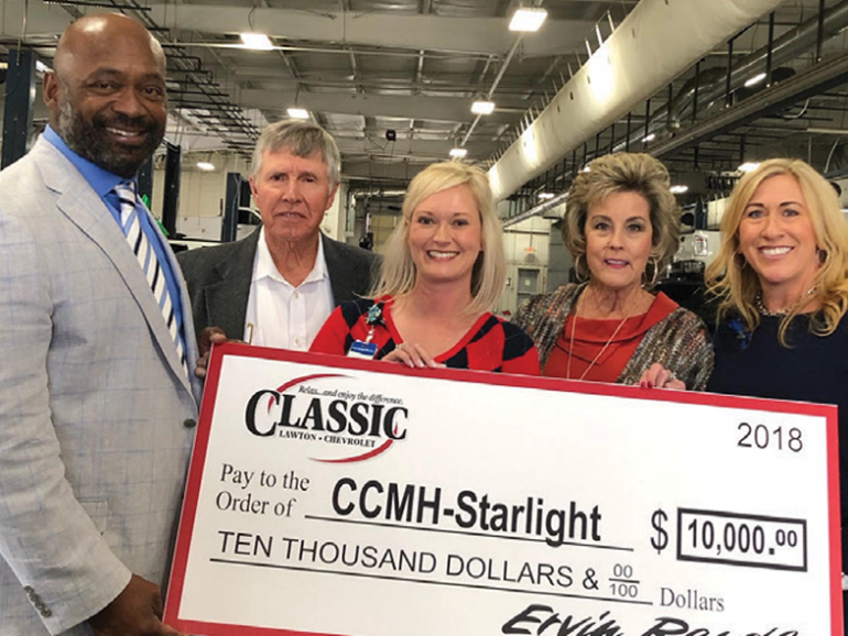 Classic Lawton Chevrolet Donates to CCMH Starlight