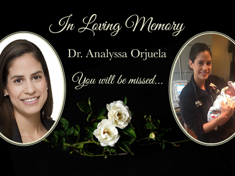 In Remembrance of Analyssa Orjuela, MD