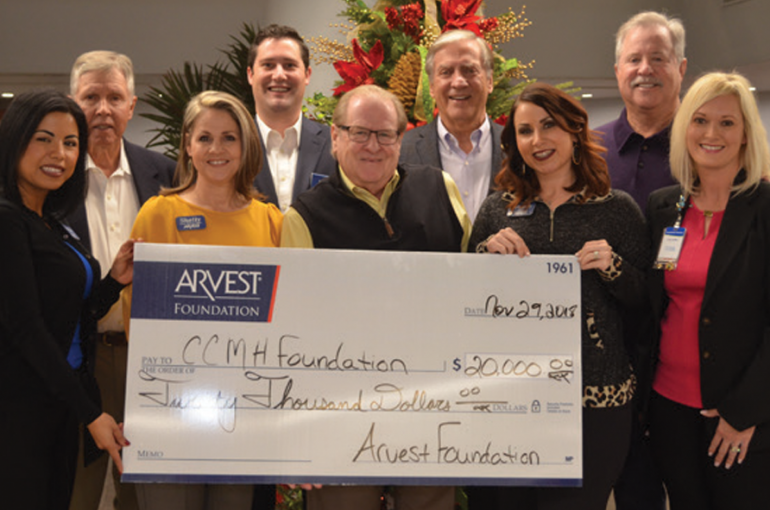 Arvest Foundation makes $20,000 Donation to CCMH Foundation