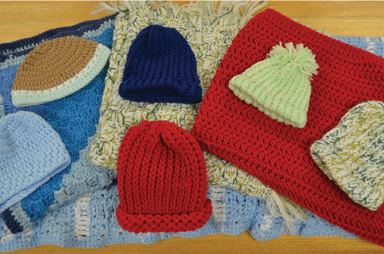Chrocheted Hats and Blankets Donated to CCMH NICU