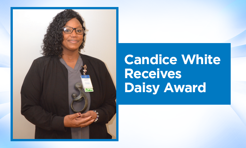Candice White Recieves Daisy Award