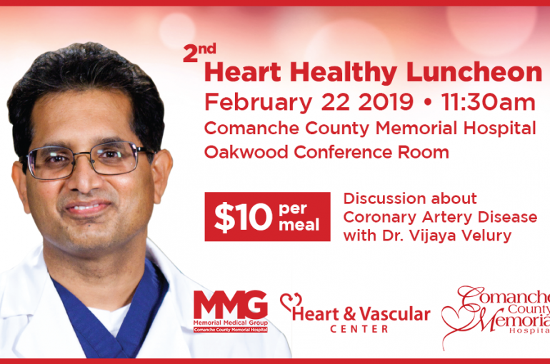 2nd Heart Healthy Luncheon – February 22, 2019