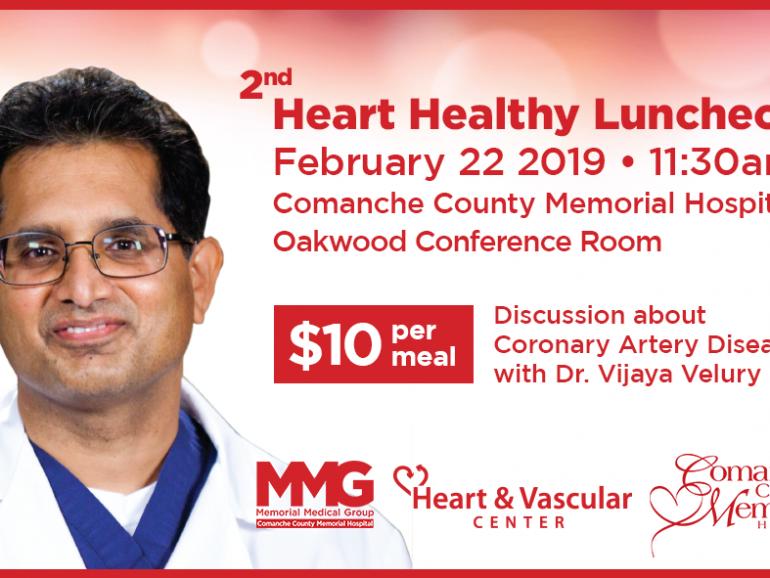 2nd Heart Healthy Luncheon – February 22, 2019
