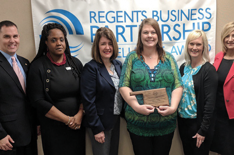 CCMH Receives Regents Business Partnership Excellence Award