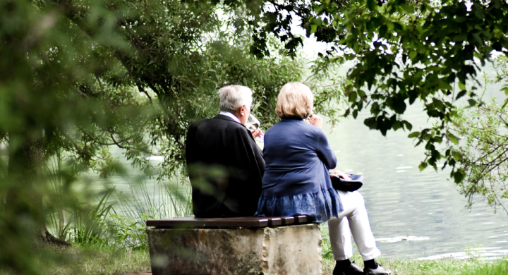 older couple at park