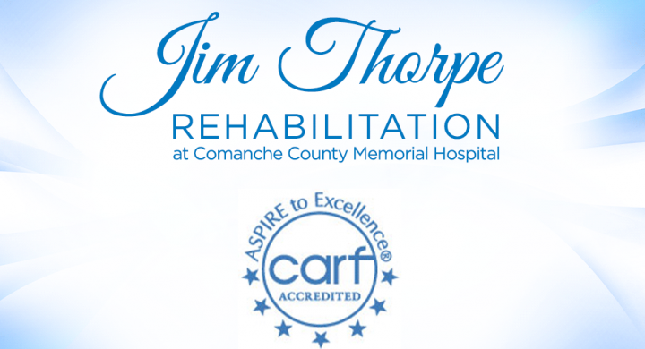Jim Thorpe Rehabilitation Logo & CARF Accredited logo