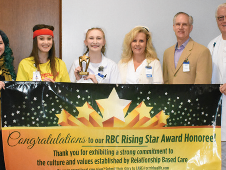 Caitlyn Reser, Nurse Aid, Receives Rising Star Award