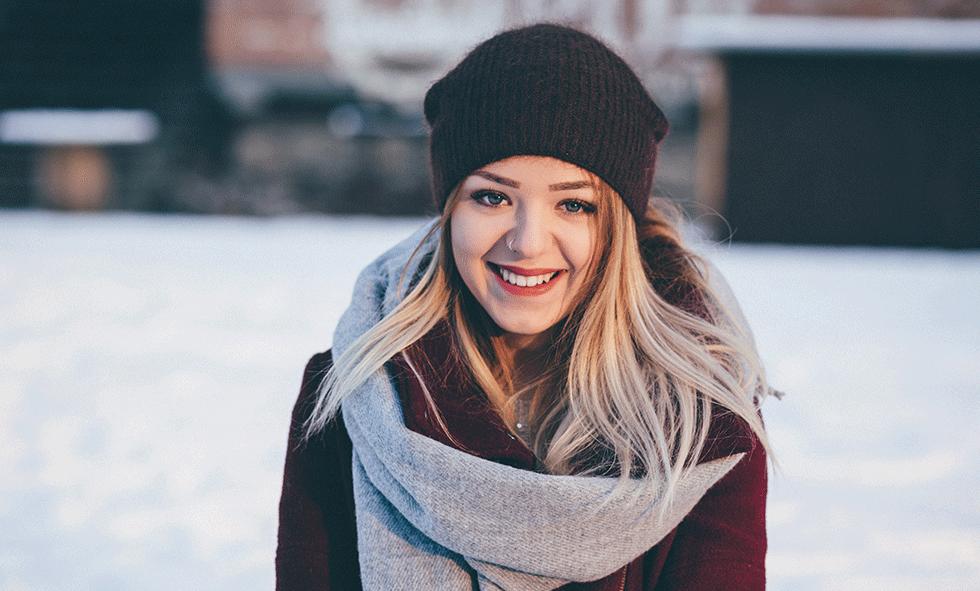 girl outside in winter