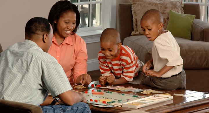 family in social isolation