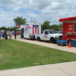 food trucks outside CCMH for nurses and hospital week