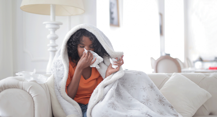 girl with asthma allergies
