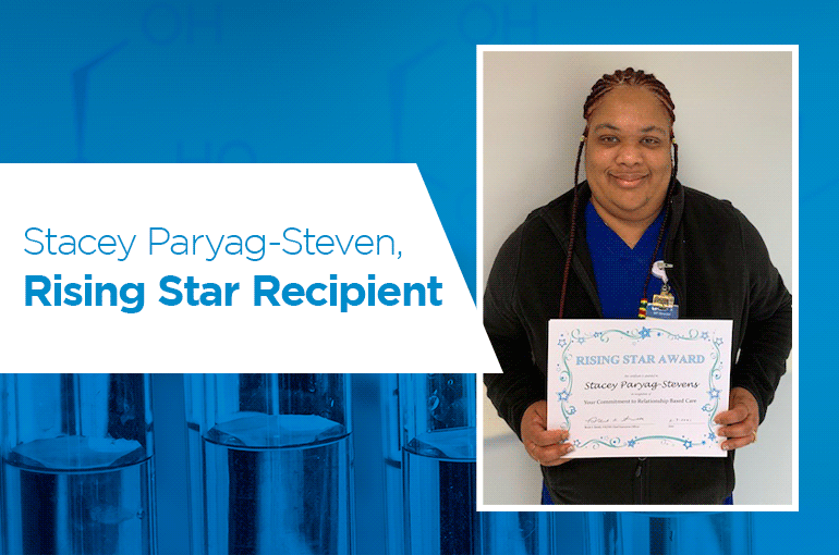 Stacey Paryag-Steven, Rising Star Recipient
