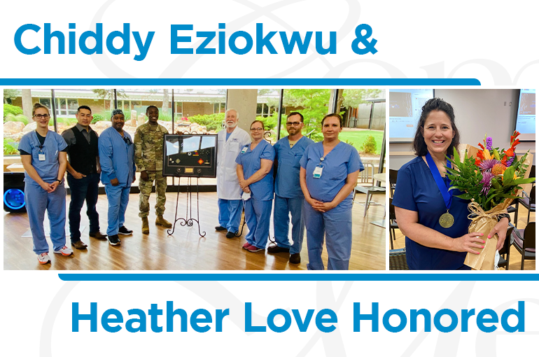 Chiddy Eziokwu & Heather Love Honored
