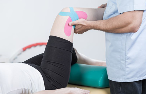 patient in physical therapy