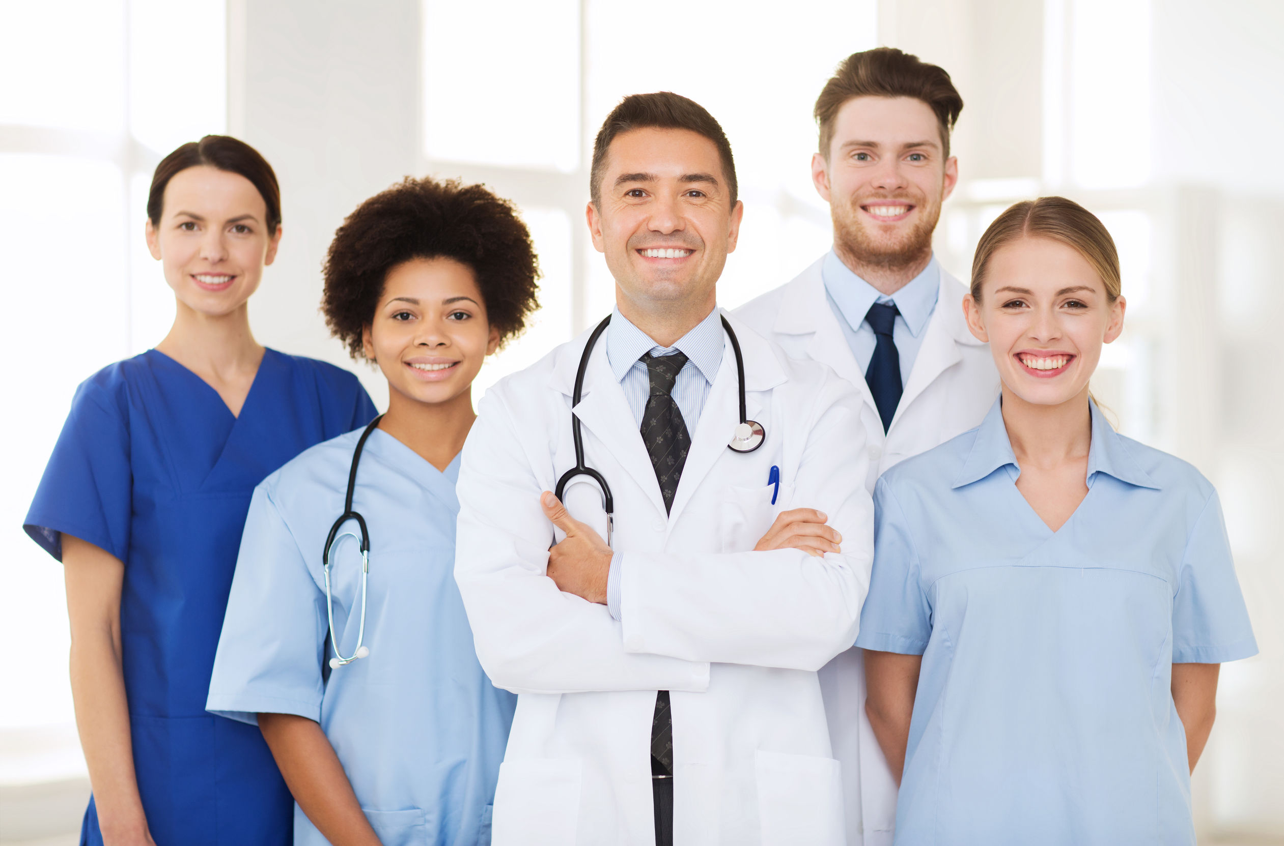 Group of diverse doctors