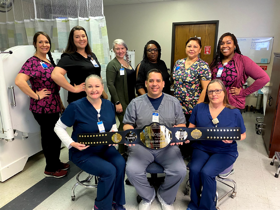 The Wound Care team: Paul Nioce MD, Rebecca Lusher RN WCC, Sarah Solinger, Kristina Kriz RN, Jordan Blackwell RN, Stefanie Timerson RN, Lisa Downey LPN, Phyllis Johnson LPN and Shemika Smith