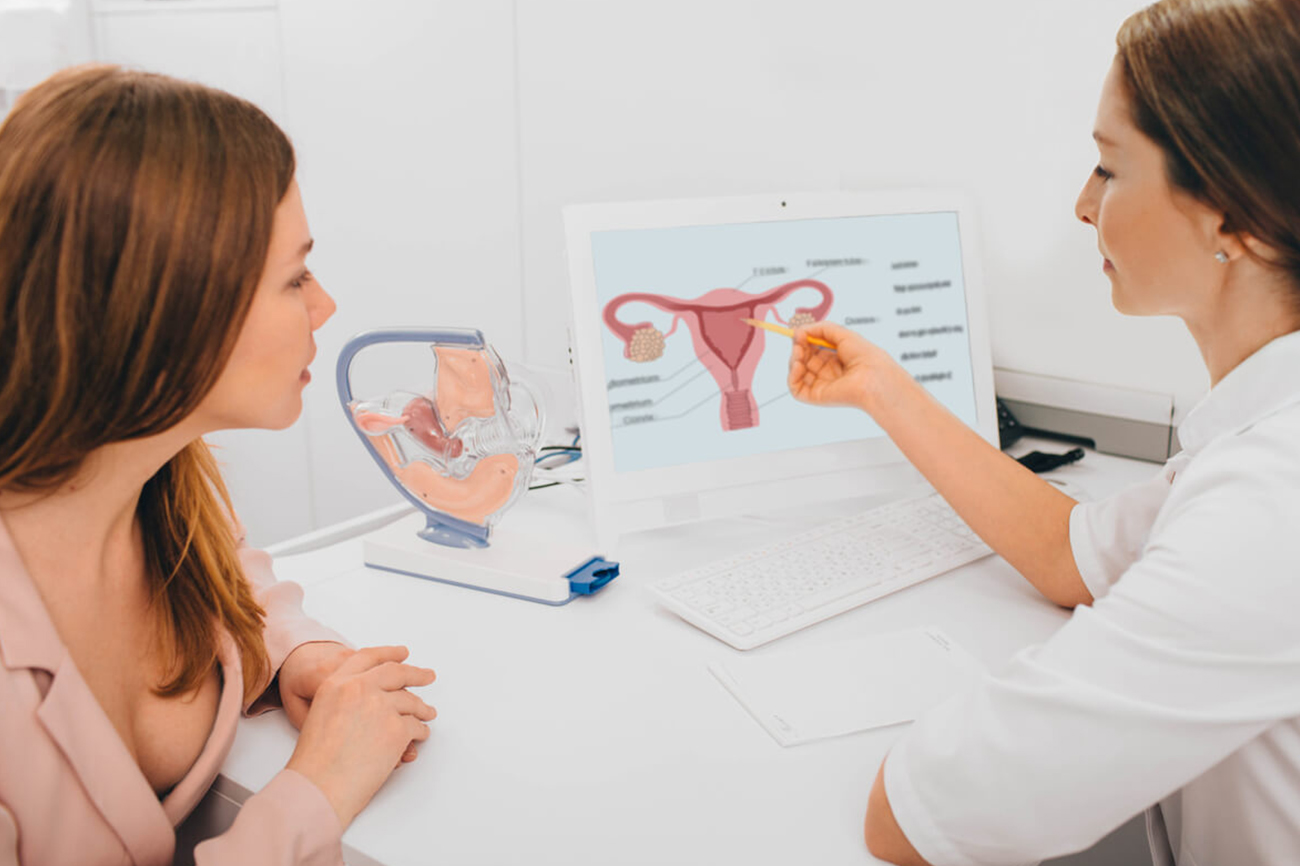 doctor discussing female health issues with patient