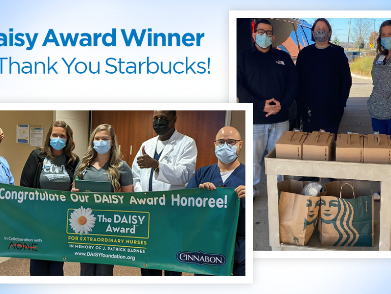 Daisy Award Winner & Thank You Starbucks!