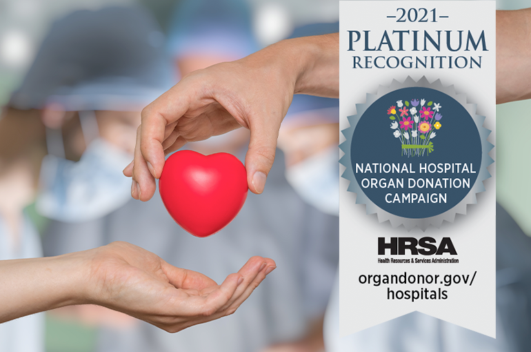 CCMH Earns National Recognition for Promoting Organ, Eye, and Tissue Donation